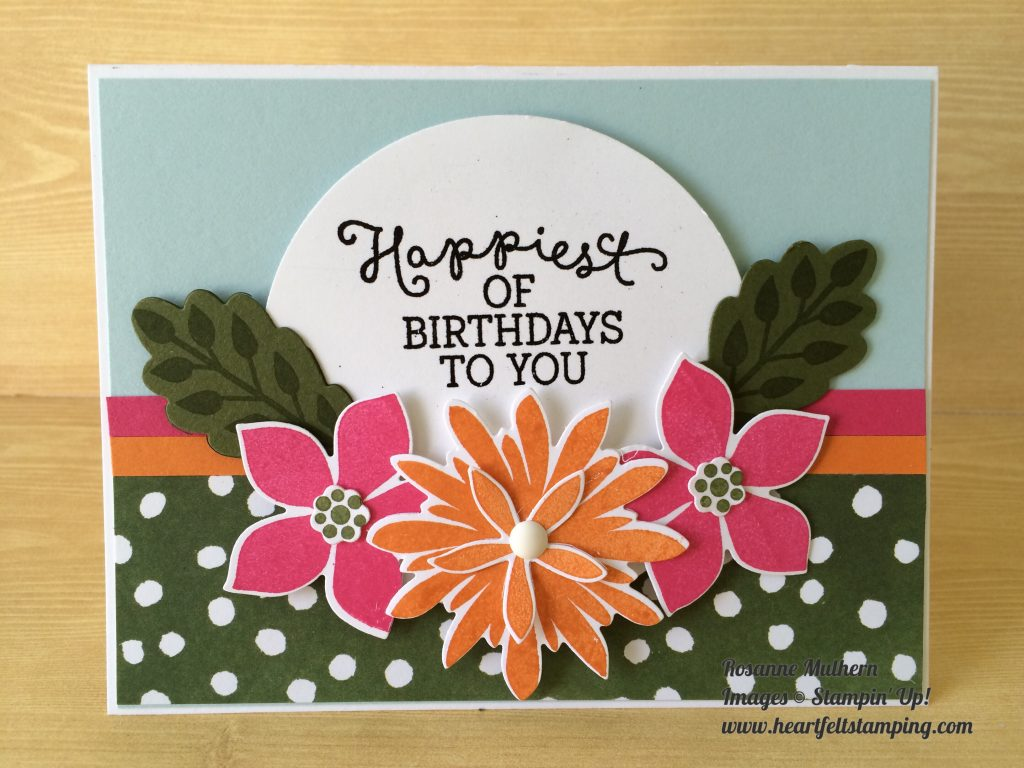 A Flower Patch Punch Heartfelt Stamping