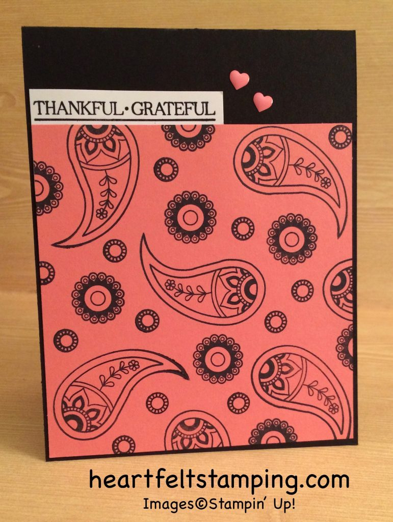 Stampin Up Paisleys and Posies Thank You cards idea - Rosanne Mulhern stampinup