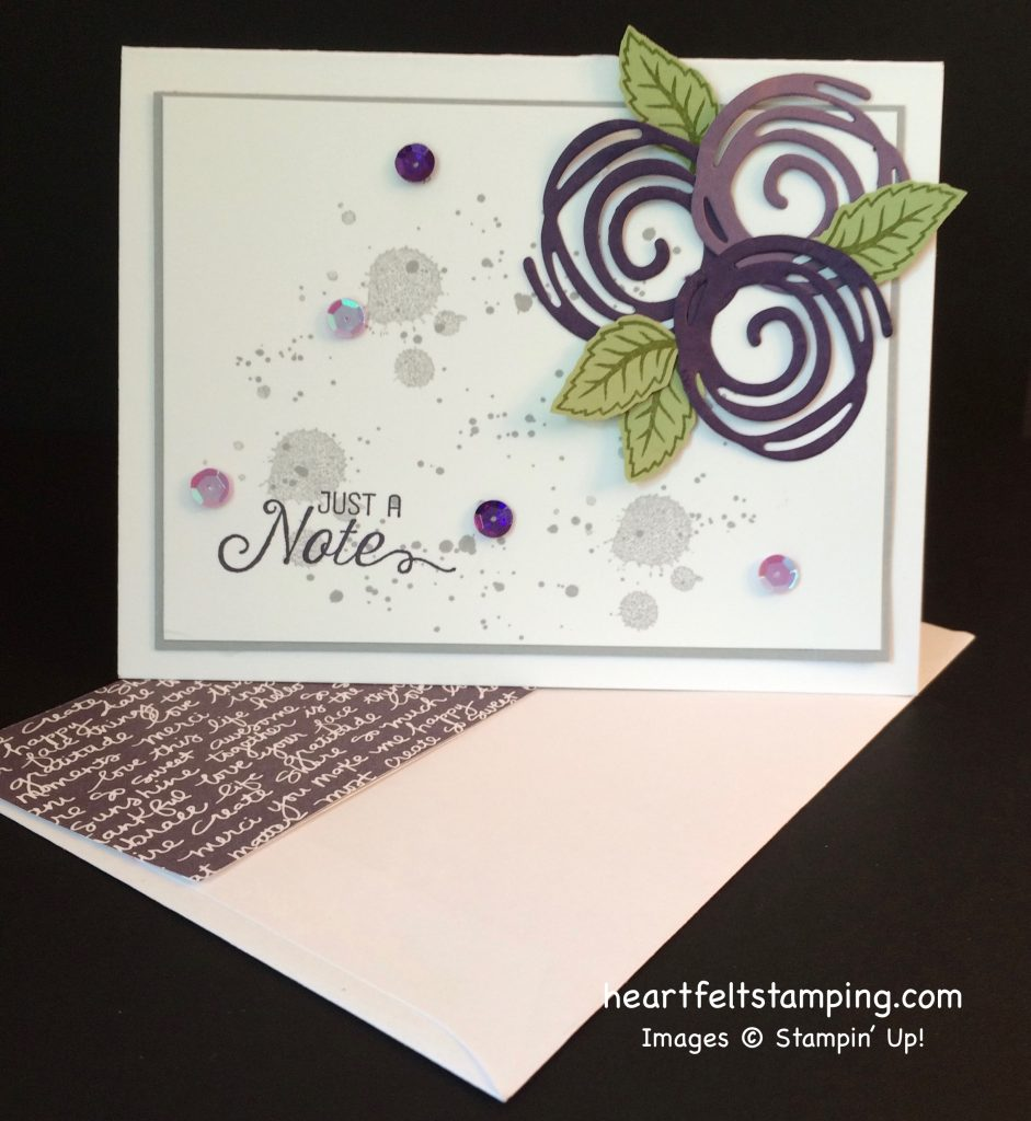 Stampin Up Swirly Scribbles card idea - Rosanne Mulhern stampin up