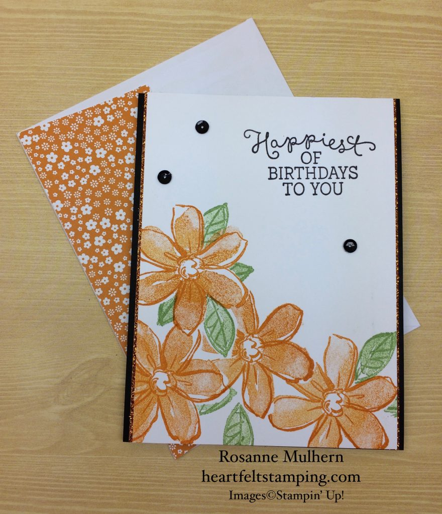 Stampin up birthday card ideas best happy birthday cards new year garden in bloom birthday heartfelt stamping stampin up garden in bloom birthday cards idea rosanne mulhern stampinup garden bloom birthday bookmarktalkfo Gallery