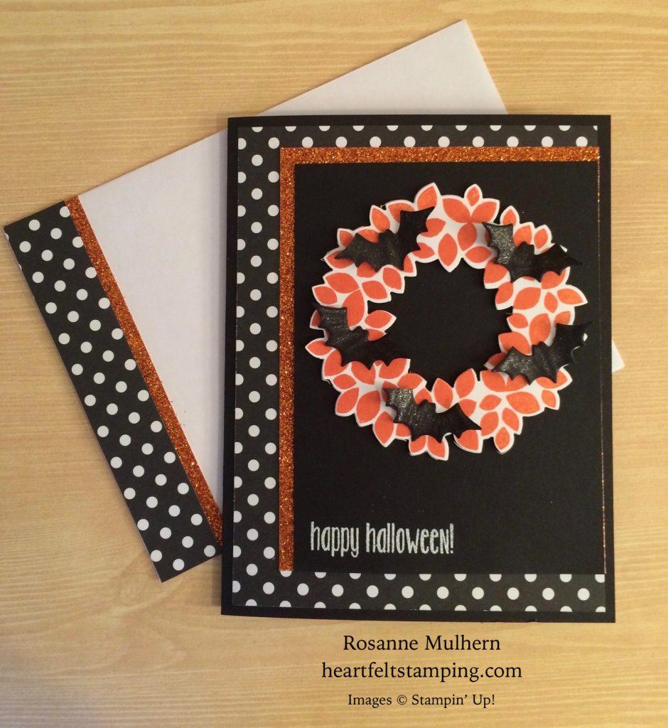 Stampin Up Halloween Card Ideas 2020 stampin up wondrous wreath halloween cards ideas rosanne mulhern