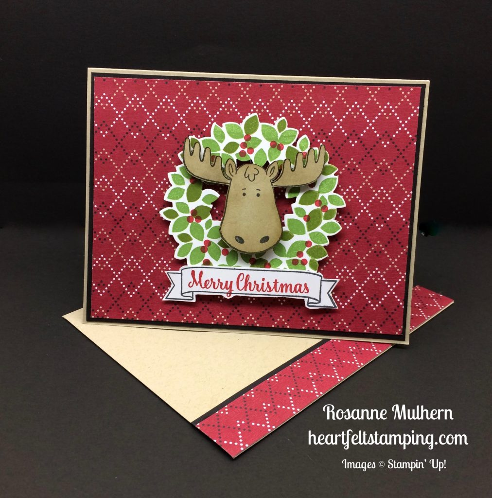 Stampin Up Jolly Friends Christmas card idea - Rosanne Mulhern stampinup