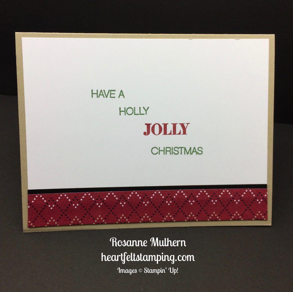 Stampin Up Jolly Friends Christmas cards ideas - Rosanne Mulhern stampinup