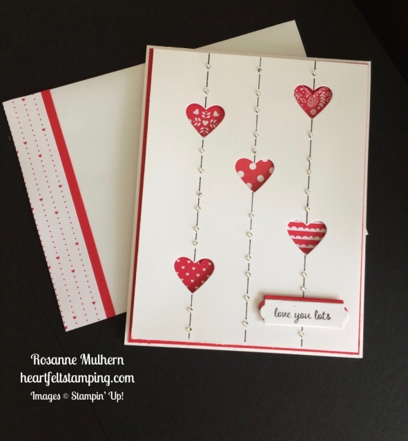 Stampin Up Sealed with Love Valentine card - Rosanne Mulhern stampinup