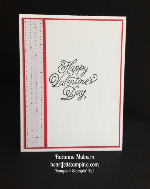 Stampin Up Sealed with Love Valentine cards idea - Rosanne Mulhern stampinup