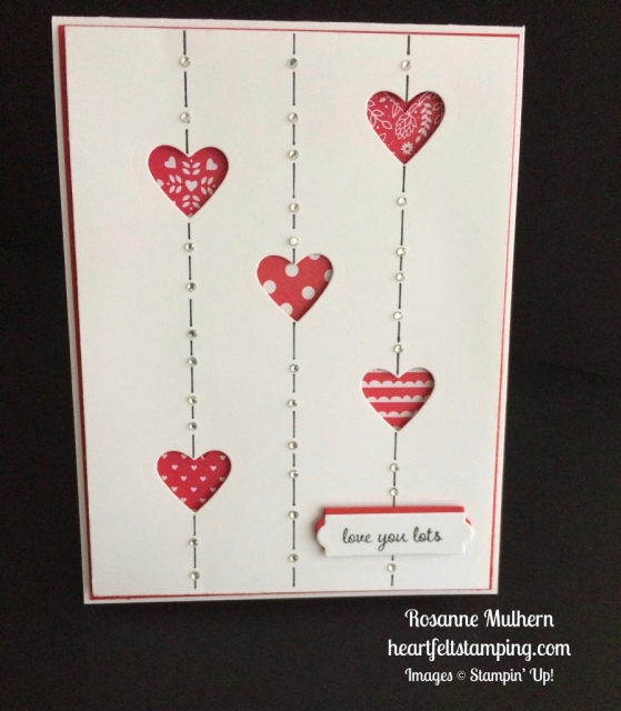 Stampin Up Sealed with Love Valentine cards ideas - Rosanne Mulhern stampinup