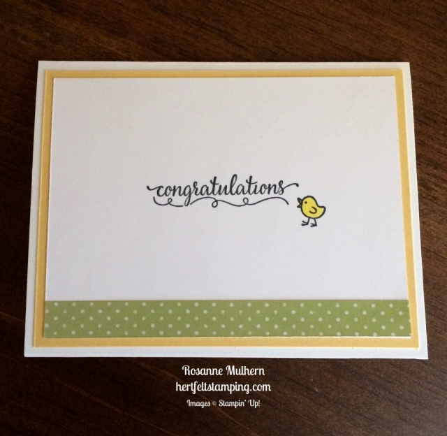 Stampin Up Barnyard Babies Baby card idea - Rosanne Mulhern stampinup