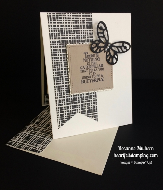 Stampin Up Butterfly Basics Friendship Card - Rosanne Mulhern stampinup