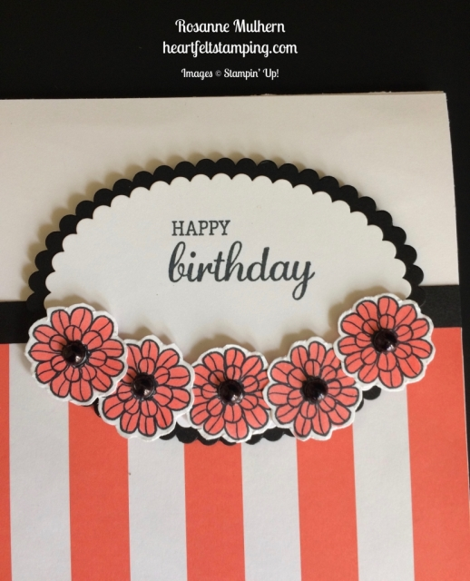 Stampin Up Touches of Texture Birthday Card idea - Rosanne Mulhern stampinup