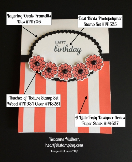 Stampin Up Touches of Texture Birthday cards ideas - Rosanne Mulhern stampinup