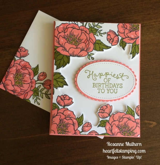 Stampin Up Birthday Blooms Birthday card - Rosanne Mulhern stampinup