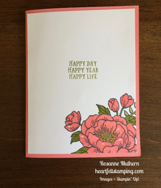 Stampin Up Birthday Blooms Birthday card ideas - Rosanne Mulhern stampinup