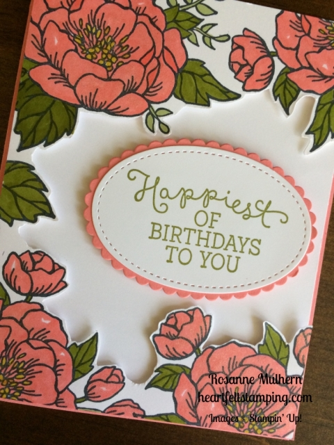 Stampin Up Birthday Blooms Birthday cards idea - Rosanne Mulhern