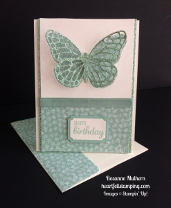 Stampin Up Butterfly Birthday card idea - Rosanne Mulhern stampinup