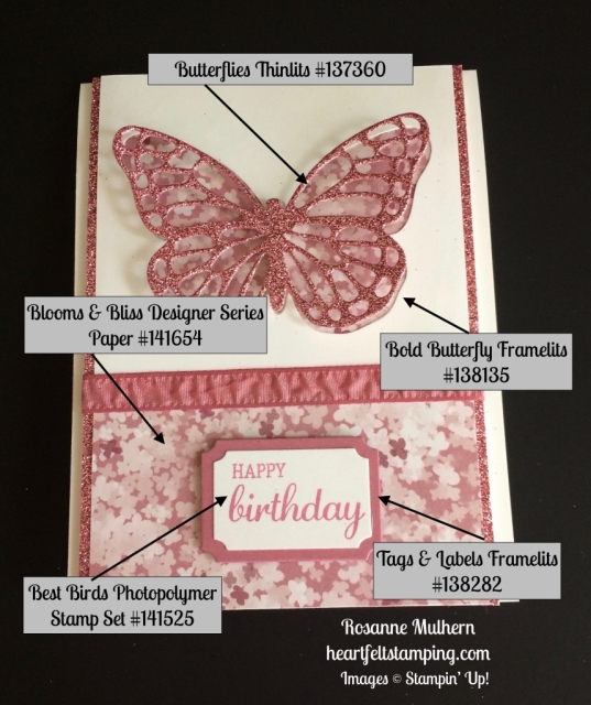 Stampin Up Butterfly Birthday cards ideas - Rosanne Mulhern