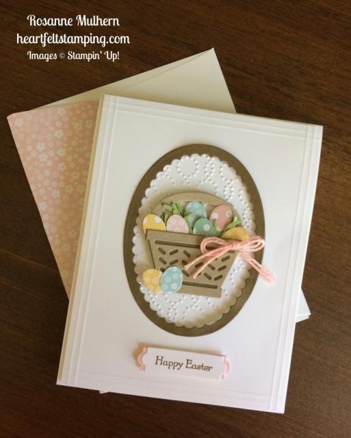 Stampin Up Basket Bunch Card Idea - Rosanne Mulhern stampinup