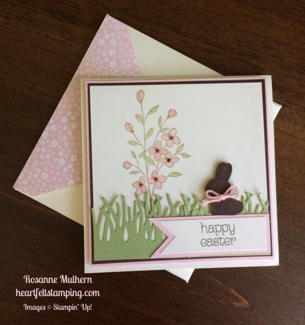 Stampin Up Basket Bunch Easter Card - Rosanne Mulhern stampinup