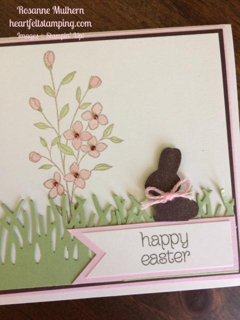 Stampin Up Basket Bunch Easter Cards Idea - Rosanne Mulhern stampinup