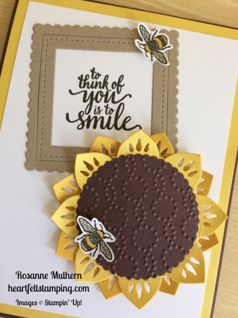 Stampin Up Eastern Palace Sunflower Love and Friendship Cards Ideas - Rosanne Mulhern