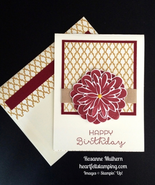 Stampin Up Flower Patch Birthday Card - Rosanne Mulhern stampinup