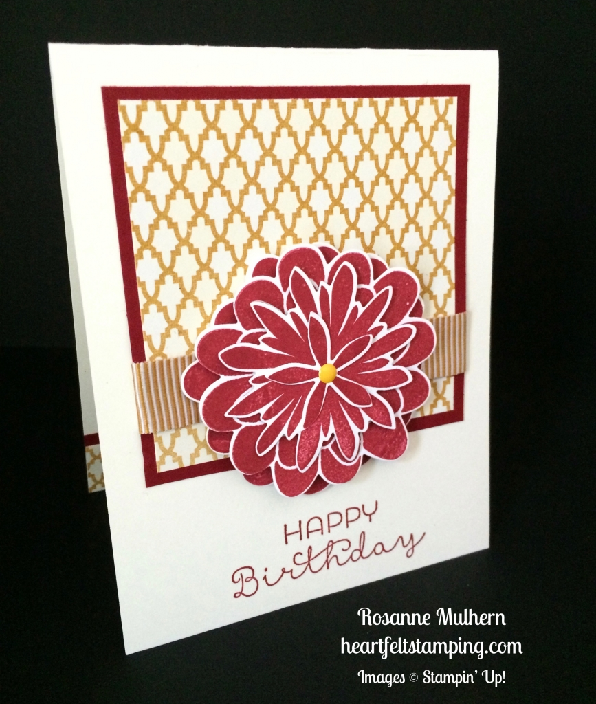 Stampin Up Flower Patch Birthday Cards Idea Rosanne Mulhern