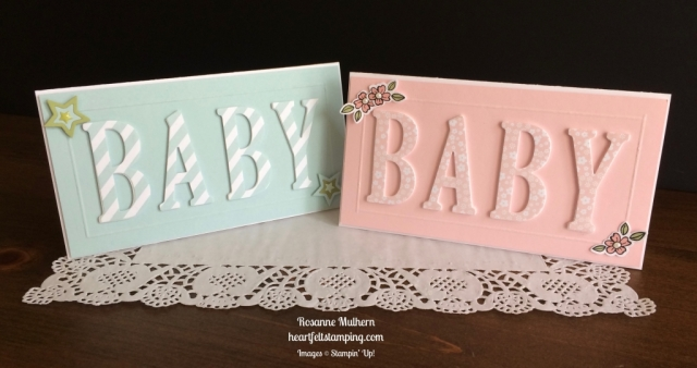 Stampin Up Large Letters Baby Card - Rosanne Mulhern