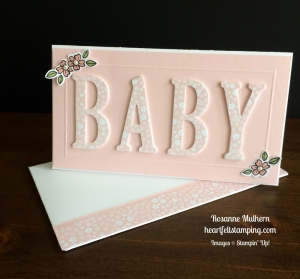 Stampin Up Large Letters Baby Cards Idea - Rosanne Mulhern