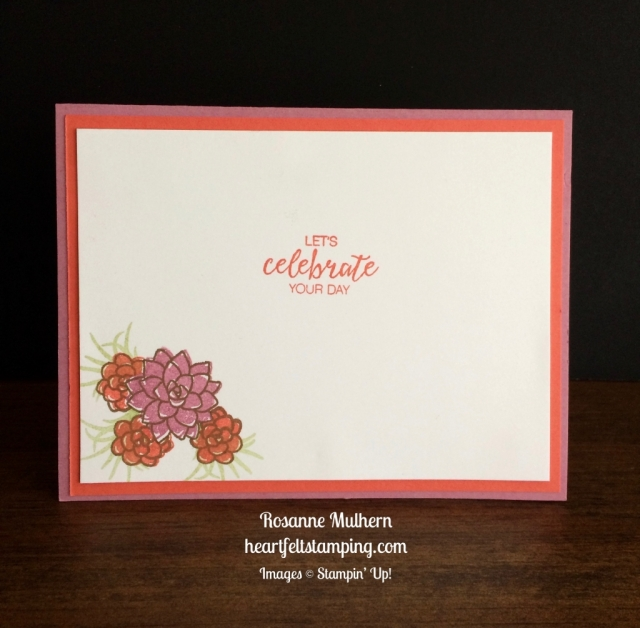 Stampin Up Oh So Succulents Birthday Cards Idea - Rosanne Mulhern