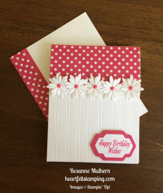 Stampin Up Succulent Daisy Birthday Card - Rosanne Mulhern stampinup