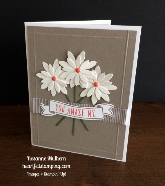 Stampin Up Succulents Just Because Card Idea - Rosanne Mulhern stampinup