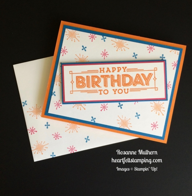 Stampin Up Super Duper Birthday Card Idea - Rosanne Mulhern stampinup