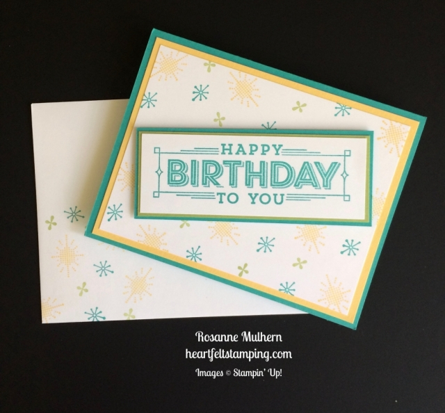 Stampin Up Super Duper Birthday Cards Idea - Rosanne Mulhern stampinup