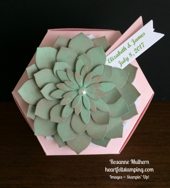Stampin Up Window Box and Succulent Bridal Favor Box - Rosanne Mulhern stampinup