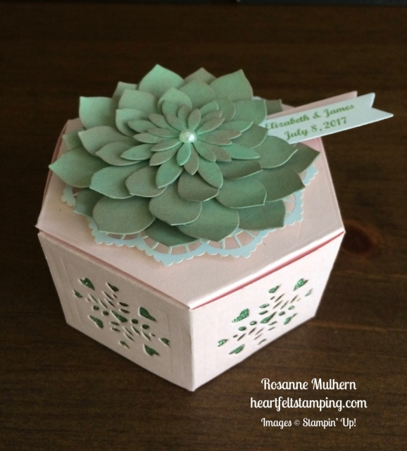Stampin Up Window Box and Succulent Bridal Favor - Rosanne Mulhern stampinup