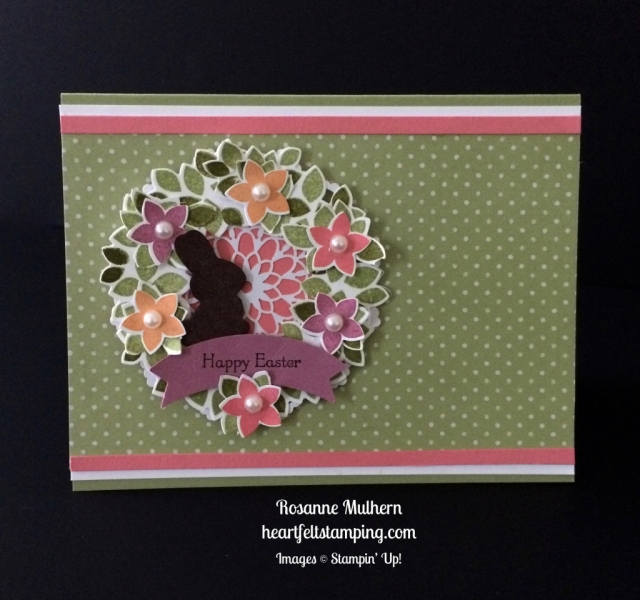 Stampin Up Wondrous Wreath Easter Card Idea - Rosanne Mulhern stampinup