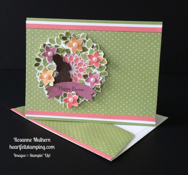 Stampin Up Wondrous Wreath Easter Card - Rosanne Mulhern stampinup