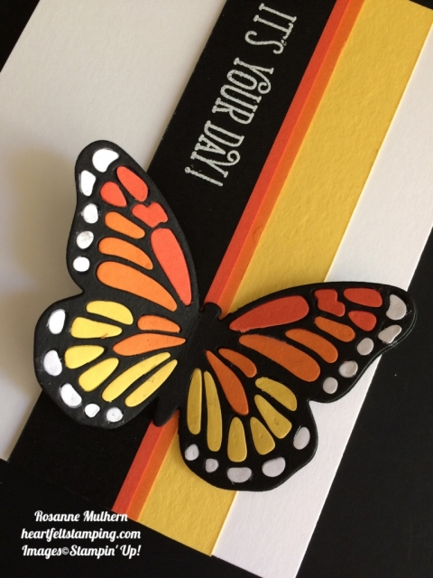 Stampin Up Bold Butterfly Birthday Cards Idea - Rosanne Mulhern