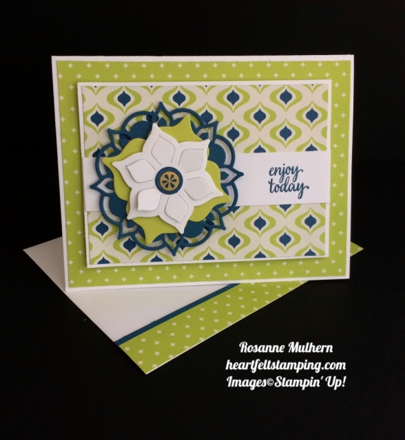 Stampin Up Eastern Palace Card - Rosanne Mulhern