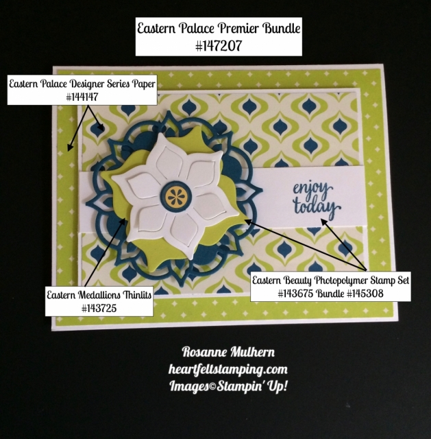 Stampin Up Eastern Palace Cards Ideas - Rosanne Mulhern