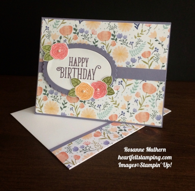 Stampin Up Happy Birthday Gorgeous Birthday Card
