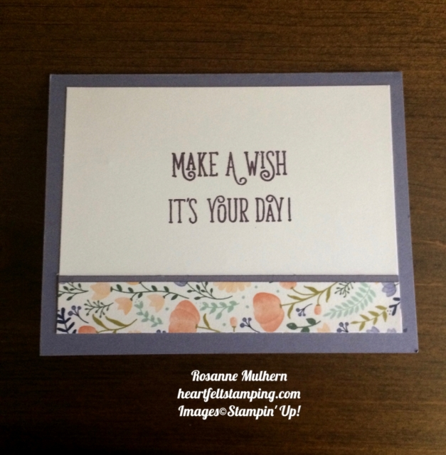 Stampin Up Happy Birthday Gorgeous Birthday Card Idea - Rosanne Mulhern