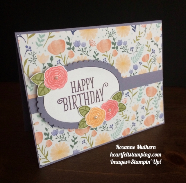 Stampin Up Happy Birthday Gorgeous - Rosanne Mulhern