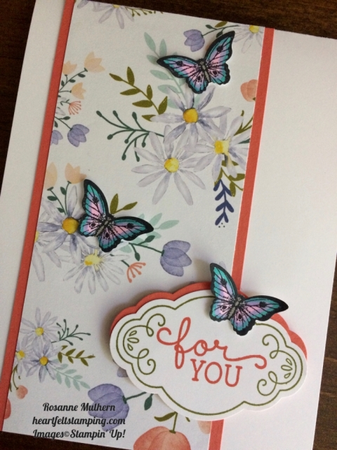 Stampin Up Label Me Pretty Friendship and Love Card Idea - Rosanne Mulhern