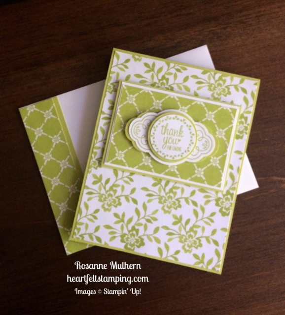 Stampin Up Label Me Pretty Thank You Cards Idea - Rosanne Mulhern