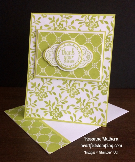 Stampin Up Label Me Pretty Thank You Note - Rosanne Mulhern