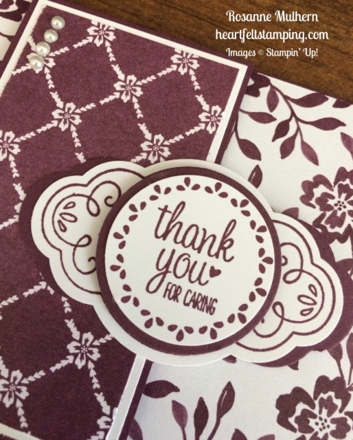 Stampin Up Label Me Pretty Thank you notes card - Rosanne Mulhern