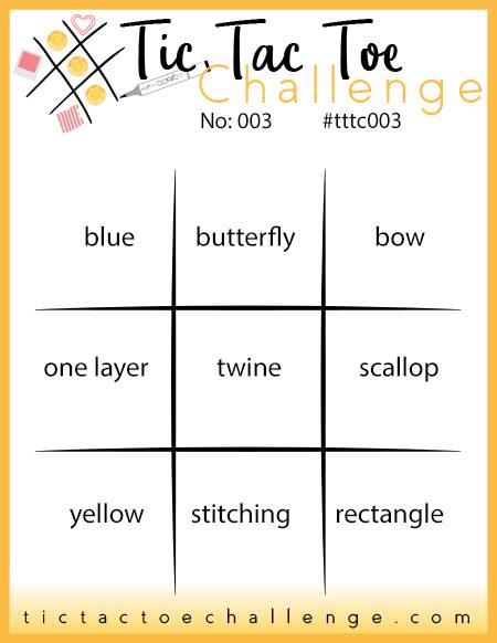 Tic Tac Toe Challenge #003 - Rosanne Mulhern stampinup