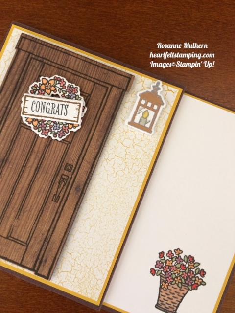 Stampin Up At Home With You Congratulations Cards Idea - Rosanne Mulhern stampinup