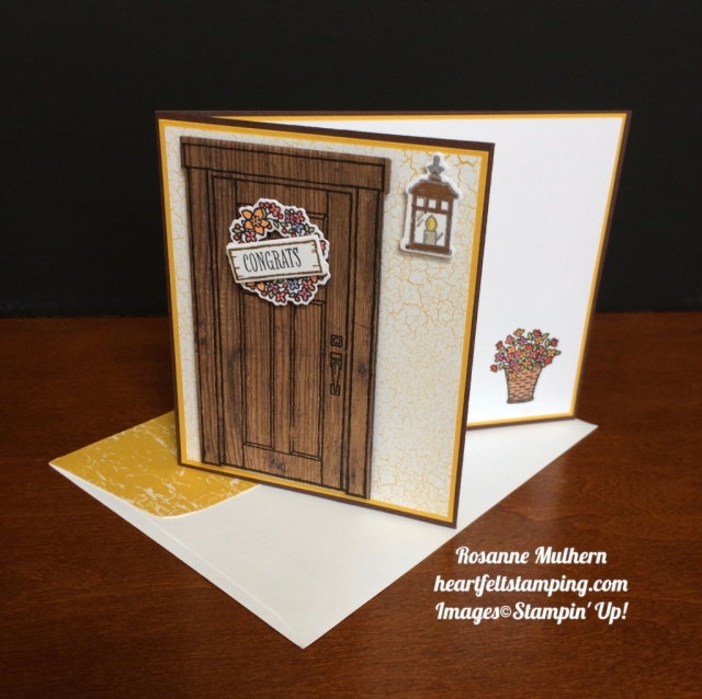 Stampin Up At Home With You Congratulations card ideas - Rosanne Mulhern stampinup