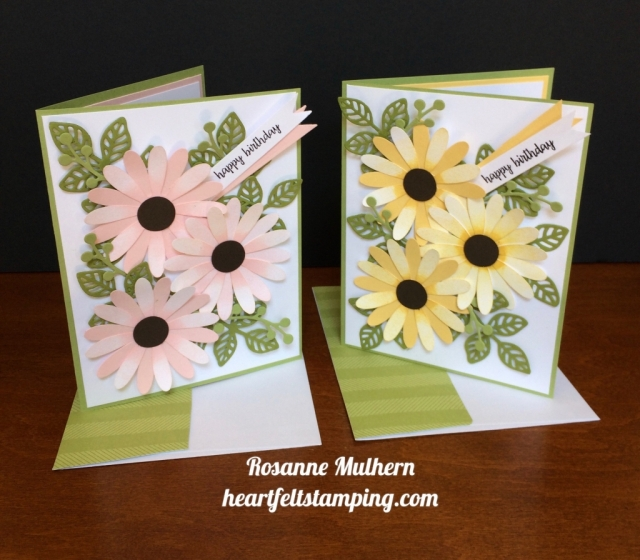 Stampin Up Daisy Punch Birthday Card Idea - Rosanne Mulhern